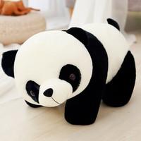 布玩乐 大号毛绒玩具熊泰迪熊猫公仔黑白 20-59cm