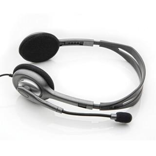 Logitech 罗技 立体声耳机 (银白、有线、3.5毫米音频接口)