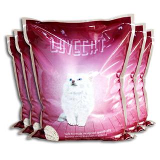lovecat litter 原味豆腐猫砂膨润土*6L 粉色