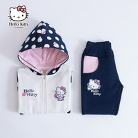 Hellokitty童装运动套装秋装加绒衣服两件套