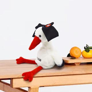 发嘉 会说话的鸡毛绒玩具 白色 20-59cm