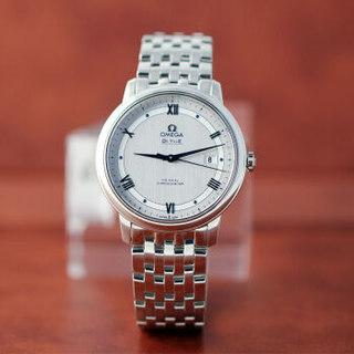 OMEGA 欧米茄 碟飞系列蝶飞手表机械男表男士手表钢带皮带手表 424.10.40.20.02.001