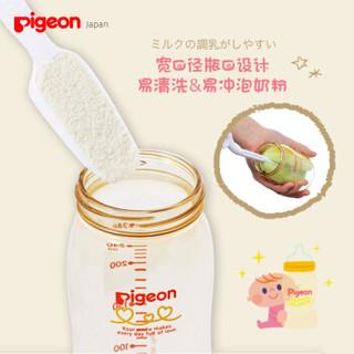 pigeon 贝亲 宽口PPSU奶瓶240ml M号奶嘴 (200-299ml、 PPSU、宽口径)