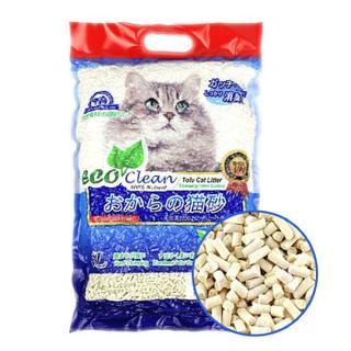 NEO CLEAN 天净 除臭豆腐渣猫砂 非水晶松木绿茶猫沙 白色  6L