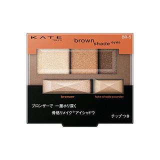KATE 凯特 骨干重塑立体 3+2五色眼影盘 BR-5 璀璨棕 日本进口