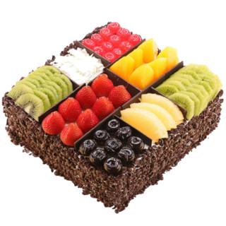 Ruifang 蕊芳 水果巧克力生日蛋糕   欧式风味 8英寸