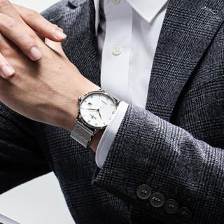 HEOJEO 海士爵 瑞士品牌自动机械男表手表男士机械表 超薄简约风时尚大表盘休闲腕表防水 米兰钢带款【爆款】