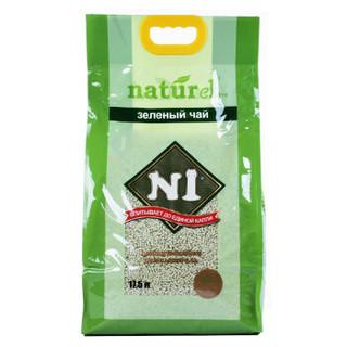 N1爱宠爱猫 玉米猫砂除臭非猫砂膨润土 经典款3mm绿茶豆腐猫砂17.5L  绿色