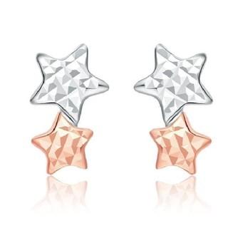 CHOW TAI FOOK 周大福 E104937 18K金 浪漫星星双色耳钉