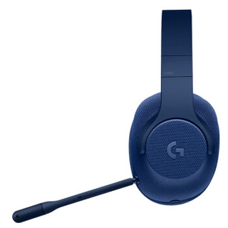 Logitech 罗技 游戏耳机 (蓝色、有线、3.5毫米音频接口)