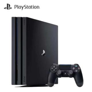 SONY 索尼 国行PlayStation4 PS4 Pro/Slim 家用娱乐主机 PS4 PRO 1TB 黑色 双手柄 +大作游戏 神秘海域4 中文  ps4