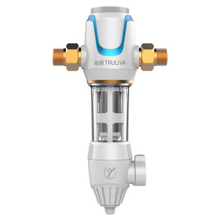 TRULIVA 沁园 FMP380  40微米反冲洗3T/H大通量全屋净水管道过滤净水器 白色