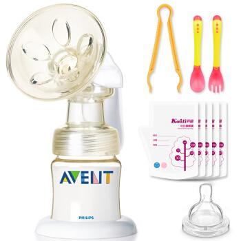 AVENT 新安怡 飞利浦经典宽口径手动吸奶器 PES单边手动吸乳器 SCF300/88 经典款