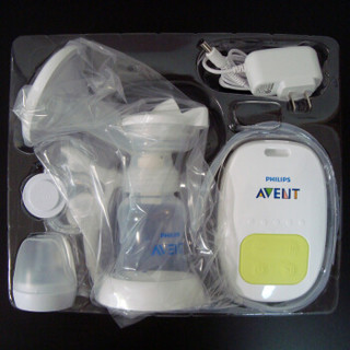 AVENT 新安怡 飞利浦新安怡单边电动手动两用吸乳器标准口径静音吸奶器 SCF902/12 (单边)