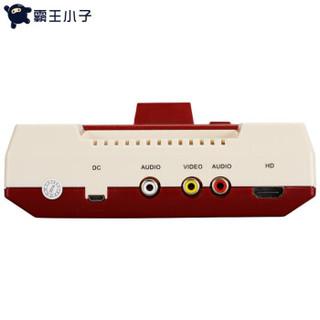 POWKIDDY 霸王小子 D68 高清4K电视游戏机 红白机插8位黄卡 +500+360+89+29合1卡 (黑色)