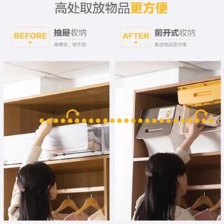 CHAHUA 茶花 24L(2886)34L(2885) 大号塑料翻盖收纳箱 棕色 34L*3个装   24L