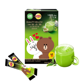Lipton 立顿 日式抹茶奶茶粉 非速溶咖啡 (19g*10、袋装)