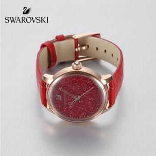 SWAROVSKI 施华洛世奇 CRYSTALLINE HOURS 闪耀红色女款手表 5295380