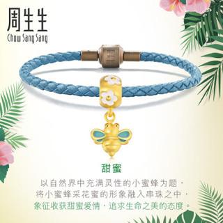 Chow Sang Sang 周生生 串珠小蜜蜂黄金转运珠黄金手链手镯 女款定价 89109C