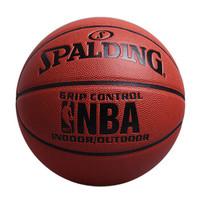 SPALDING 斯伯丁 篮球室内室外7号蓝球真斯博NBA软皮PU水泥 地兰球 掌控性 SBDLQ-Z5 (橘红色、7号)