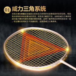 KAILITE 凯丽特 羽毛球拍单拍正品进攻型全碳素纤维超轻5U高磅双打碳素球拍 黑金刚