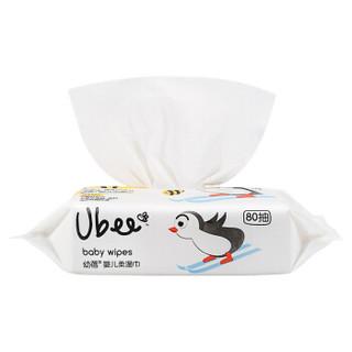 Ubee  幼蓓 婴幼儿柔湿巾 手口滋养护肤湿纸巾 80抽*6包