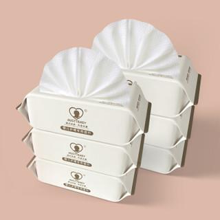 AUSTTBABY 新生儿用品手口屁棉柔带盖抽纸湿纸巾 80抽*6包