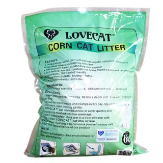 lovecat litter 植物玉米砂结团除臭味 绿色 6L