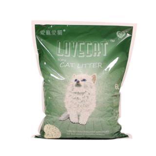lovecat 无尘除臭绿茶猫砂/豆腐砂猫沙*6L 绿色