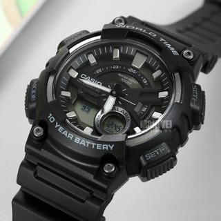 CASIO 卡西欧 运动系列 AEQ-110W-1A 男士石英手表