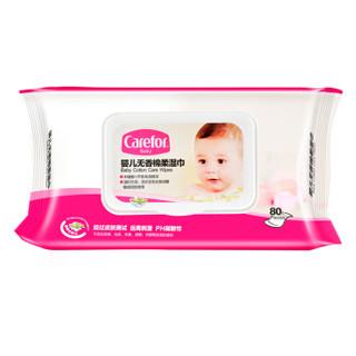 Carefor爱护 婴儿无香棉柔湿巾 80抽*10包