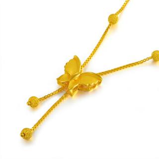 """China Gold 中国黄金 足金首饰蝴蝶流苏串珠""""蝶吻""""黄金项链(计价) 10.32GA0N073"""