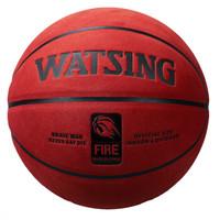 WITESS 篮球番毛软皮加厚真皮手感7号标准比赛篮球室内室外通用蓝球 加厚耐磨红棕色款 (红棕色、7号、加厚耐磨红棕色款)