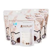 Snow Bear 小白熊 大麦材质母乳储存袋保鲜袋储奶袋原装进口 30片*4包装 09528*4