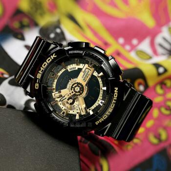 CASIO 卡西欧 手表G-SHOCK时尚运动男表 大表盘防水男士表 预售15天发货GA-110GB-1A