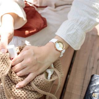 KLASSE 14 男女情侣手表 不完美系列 欧美腕表 意大利时尚简约镂空进口石英手表 弓形镂空-白色女款 IM19RG014W