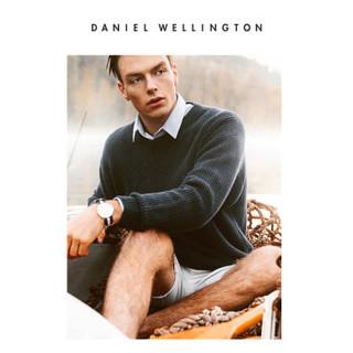 DanielWellington 手表男dw手表40mm织纹dw男表dw男手表石英dw表 情侣表 DW00100003+DW00100030