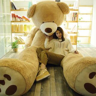 贝壳龙 泰迪熊猫公仔 浅棕色 2米(可当床睡) YLT-ZYD-0012