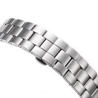 LACO 朗坤 欧美品牌德国进口银色拉丝PVD电镀不锈钢钢带 401448 白钢米兰钢带401448  401980