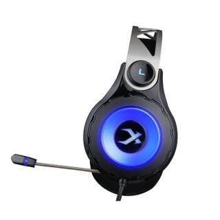 xiberia 西伯利亚 电竞游戏耳机 (黑色、有线、USB接口)