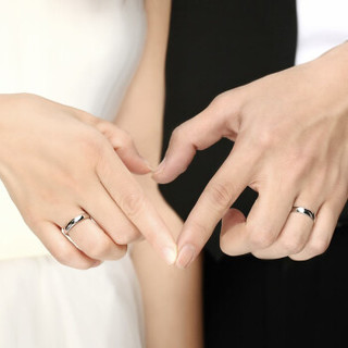 全城热恋 铂金戒指男女士款白金情侣对戒pt950光面结婚求婚指环 10号 3.40-3.50克 单个      PJD130782