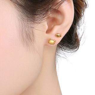 六福珠宝  GDGTBE000 网络专款足金贝壳螃蟹黄金耳钉女款耳饰 计价 GDGTBE0006 1.95克(含工费80元)