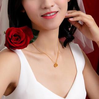 六福珠宝 金饰魅力系列足金1314罗马数字黄金项链套链 计价 GDG30051 5.38克(含工费296元)