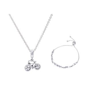 PANDORA 潘多拉 女款 限量礼盒套装礼物 银色冰川之美系列纪念时刻 DIY串珠手链项链组套 D59088-1