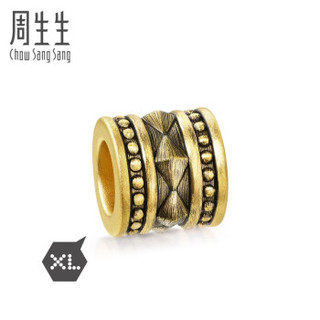 Chow Sang Sang 周生生 黄金转运珠足金Charme XL酷黑系列串珠率性转运珠 男款 女款 定价 90392C