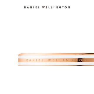 Daniel Wellington 丹尼尔惠灵顿 绸缎白金色手镯饰品简约百搭dw男女开口中号手镯 dw手镯 DW00400067