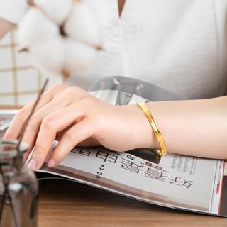六福珠宝 足金精工款黄金手镯女款推拉式镯子 计价 约26.68克 F63TBGB0008