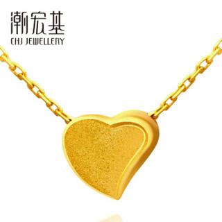 CHJ 潮宏基 心倾-刻骨铭心 足金黄金项链女款 计价 XQG30000507 约3.05g约42cm