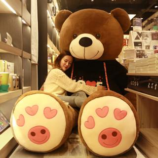 爱尚熊 毛绒玩具泰迪熊 1.8m黑色