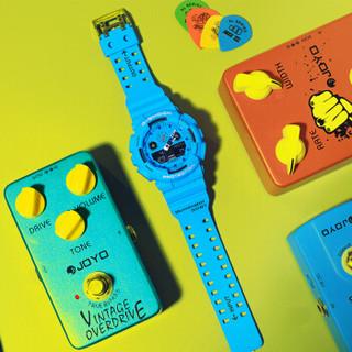CASIO 卡西欧 手表 G-SHOCK 摇滚复古潮流男表 限量发售 防震防水自动LED照明手表 GA-100RS-2A